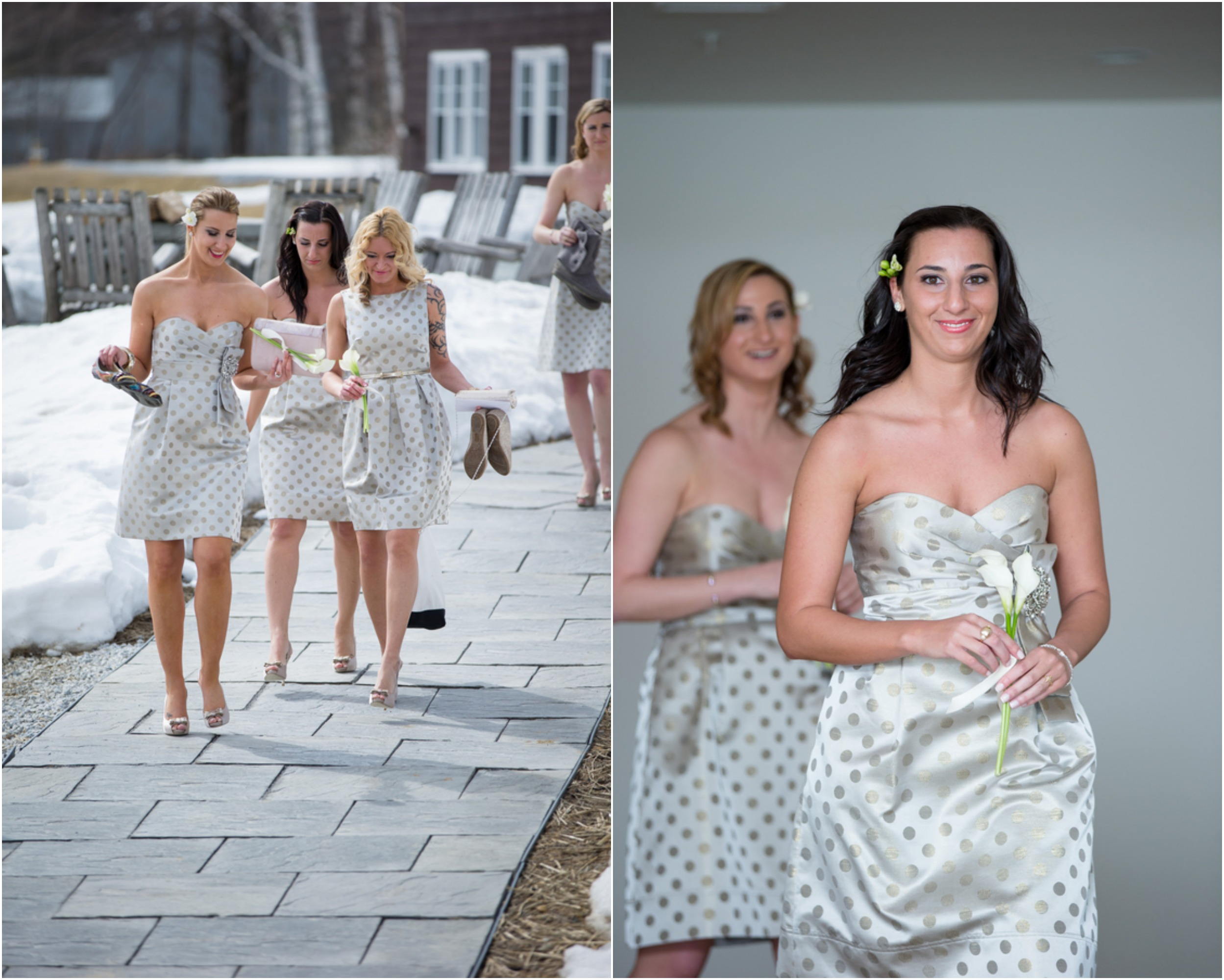 Winter Rustic Wedding At The Mountain Top Inn  Resort
