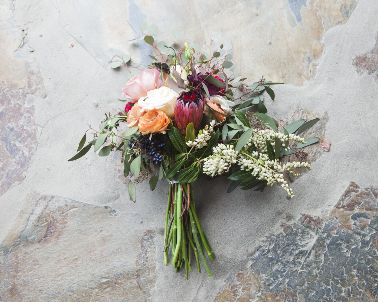 How To Make A Bare Stem Wedding Bouquet