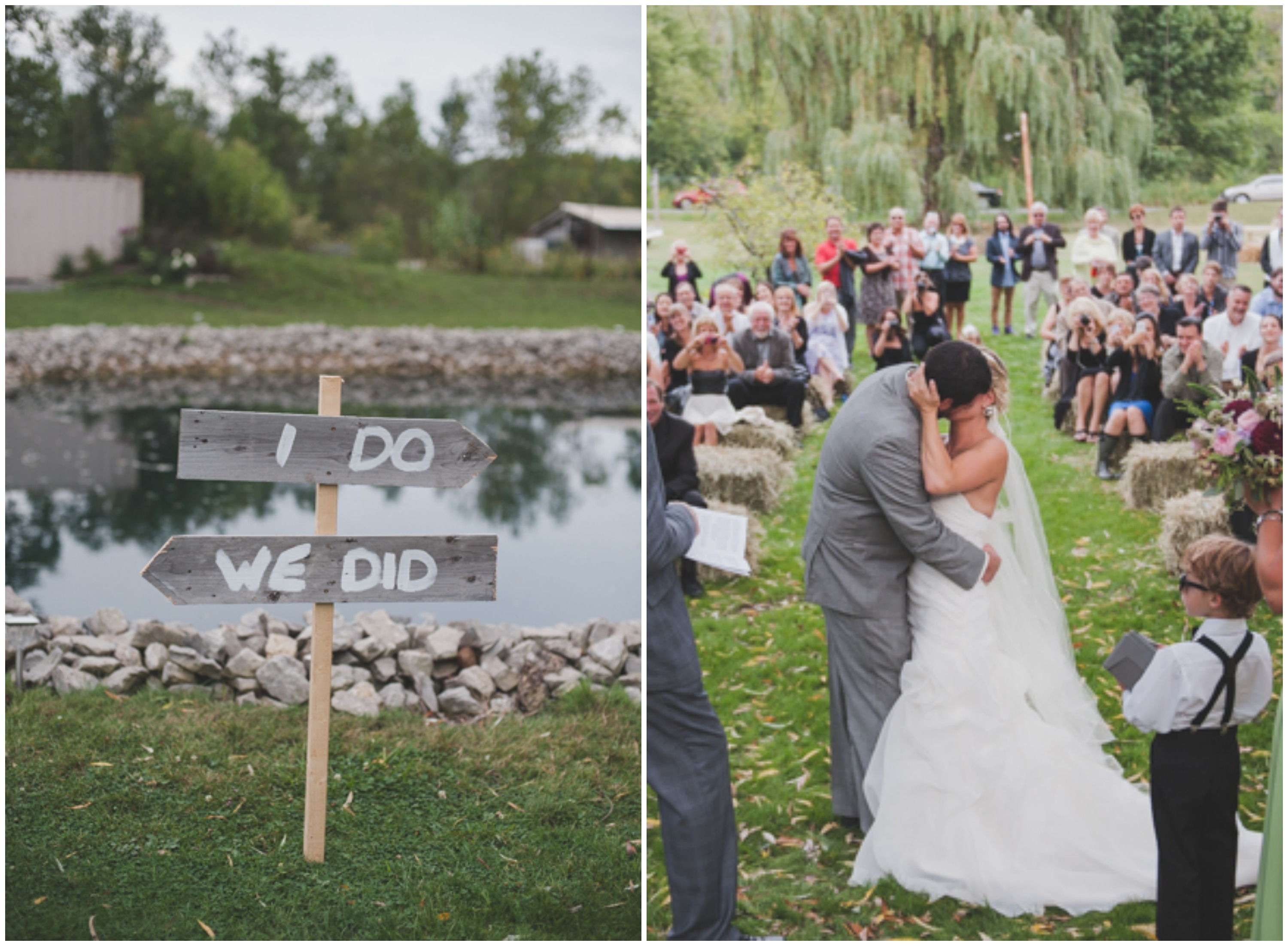 Small Country Backyard Wedding  Rustic Wedding Chic