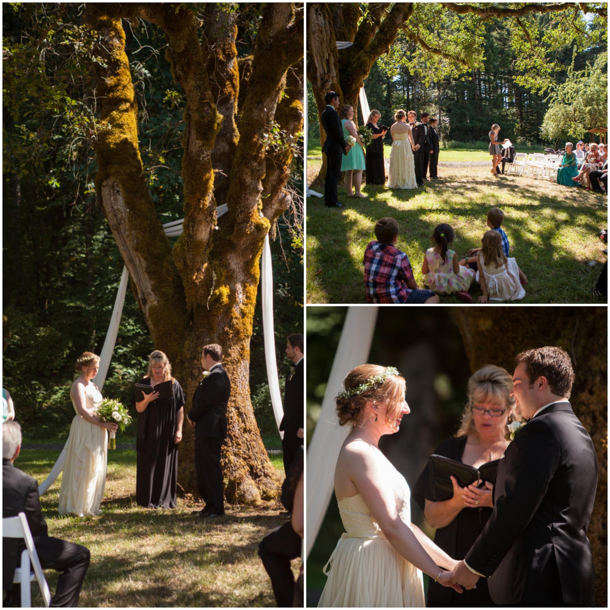 Outdoor Woodland Small Wedding Rustic Wedding Chic