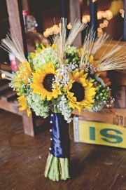 country sunflower wedding - rustic