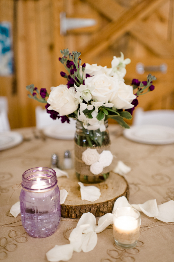 Purple Rustic Wedding  Rustic Wedding Chic
