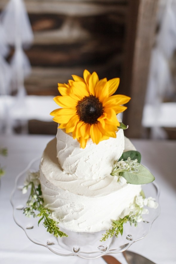Summer Sunflower Barn Wedding  Rustic Wedding Chic