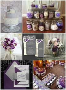 Purple & Gray Wedding Ideas - Rustic Chic