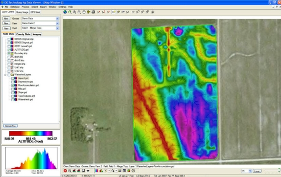 AgData Viewer-topo map