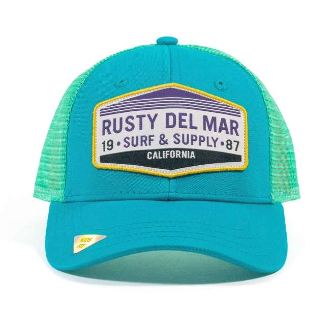 Surf and Supply Hat in Teal and Aqua