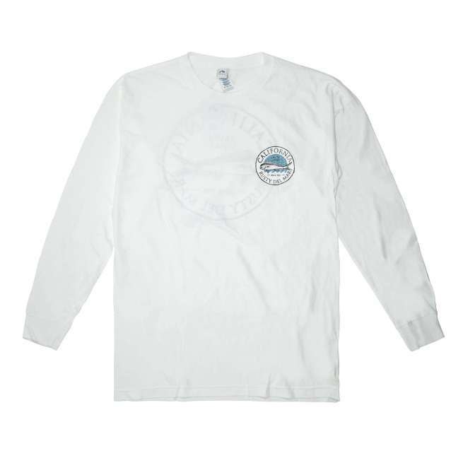 Salty Fish Long Sleeve T-Shirt in White
