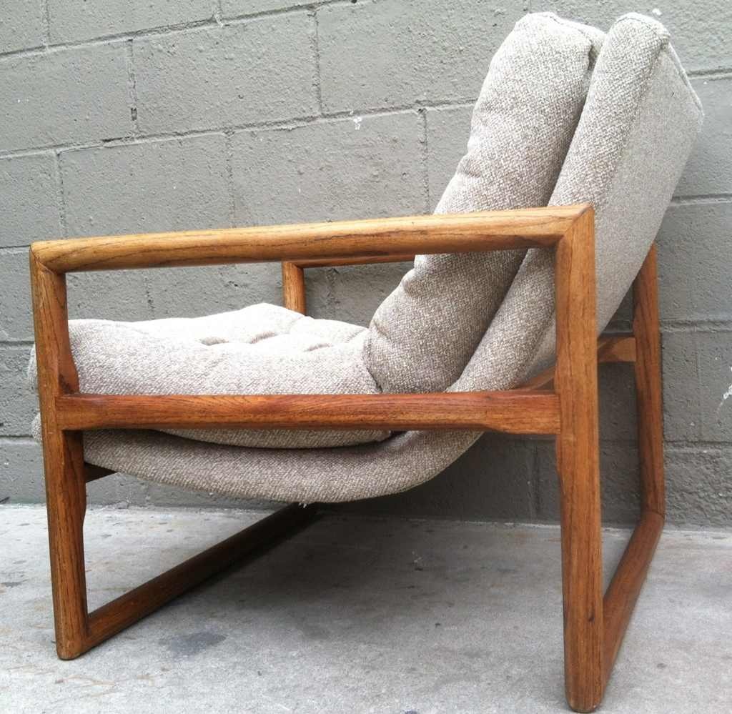 long chair couch sofa tall deck chairs milo baughman | rusty gold design
