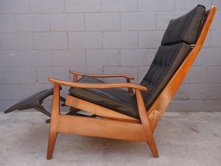 RARE Mid Century Recliner by Milo Baughman  Rusty Gold Design