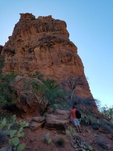 Bell Trail near Sedona, Arizona. Old Man Hiking.