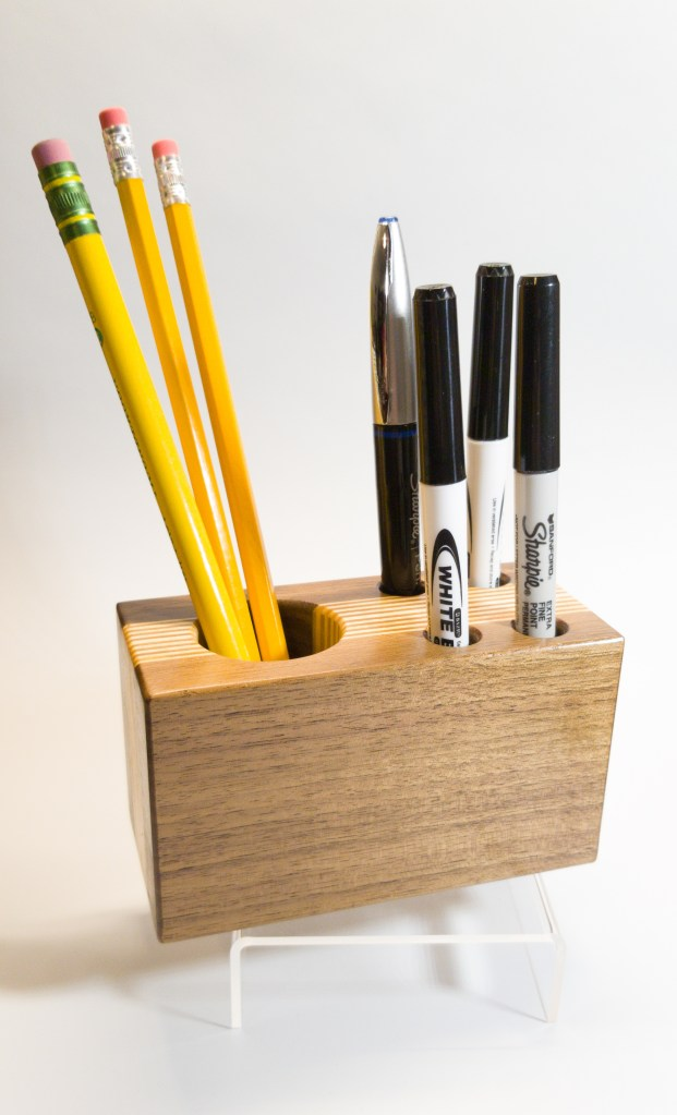 Walnut and Baltic Birch Desk Organizer
