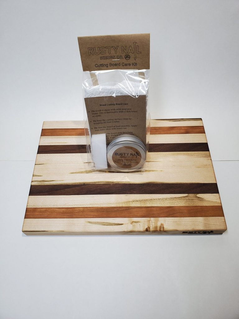 Ambrosia Maple, Cherry, and Walnut cutting board