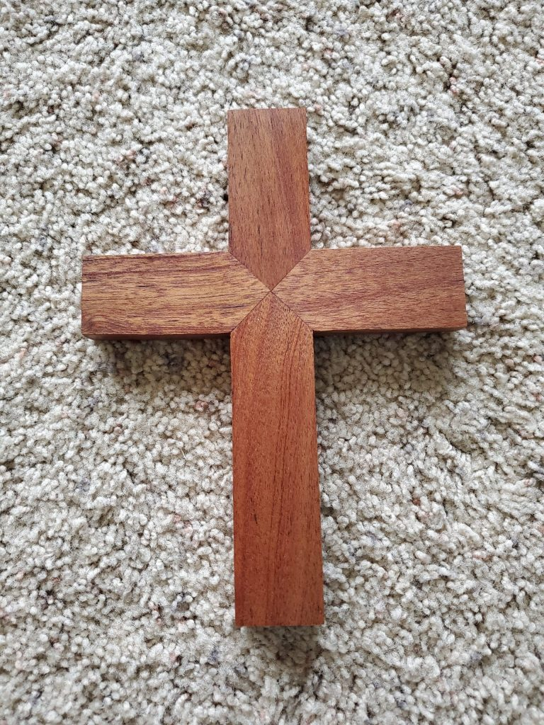 Mahogany Mini-Cross