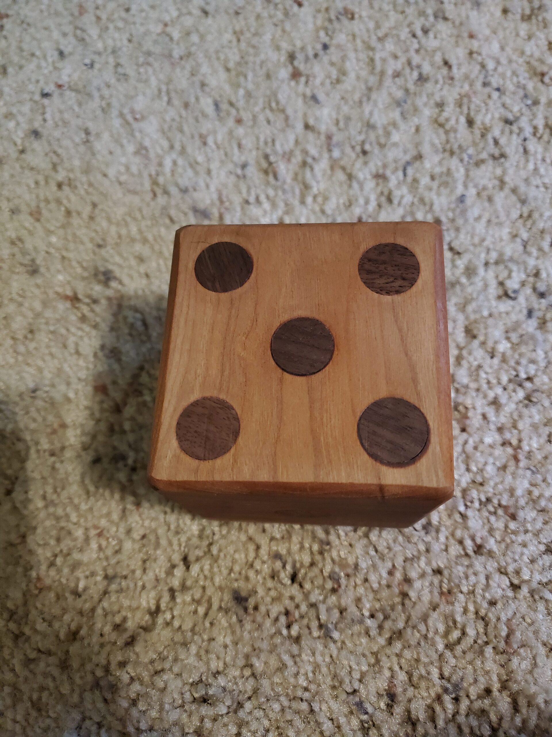 Cherry and Walnut dice