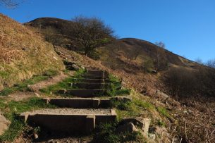 Handy steps on the West Highland Way
