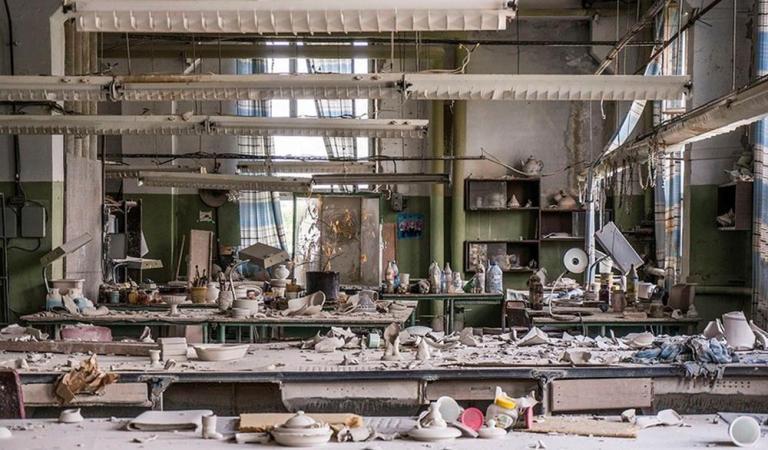 Abandoned porcelain factory