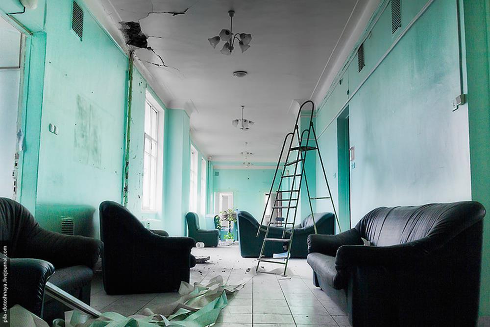 A derelict hospital
