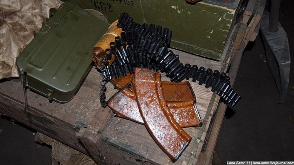Abandoned military warehouses