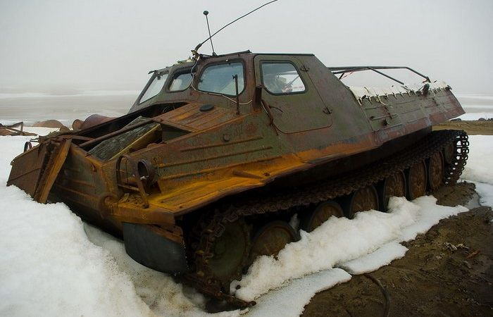 Abandoned Soviet Equipment on the Archipelago of Franz Josef Land