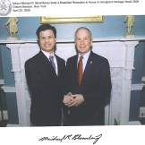 Con el ex alcalde de New York, Michael Bloomberg