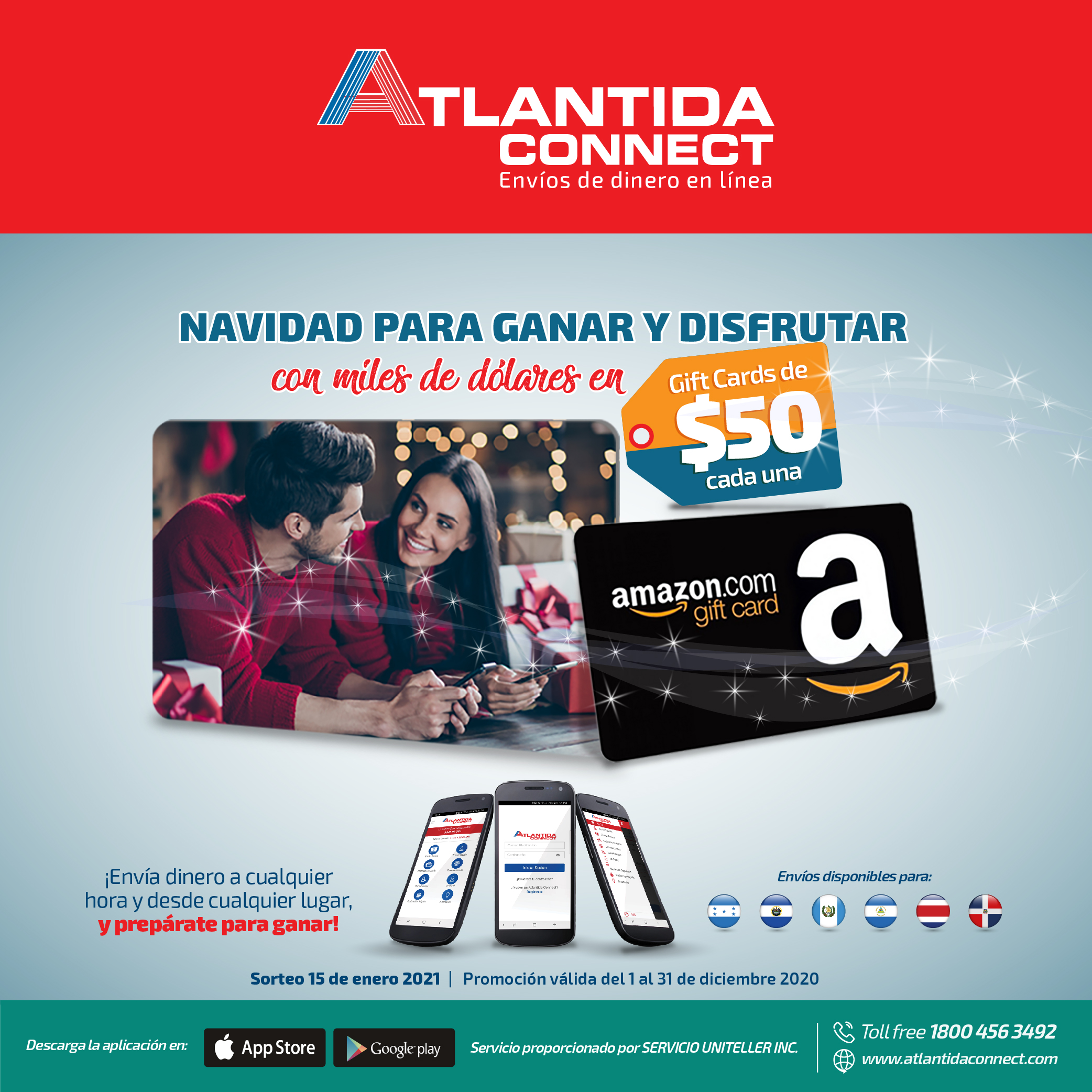 Atlantida Connect tarjetas
