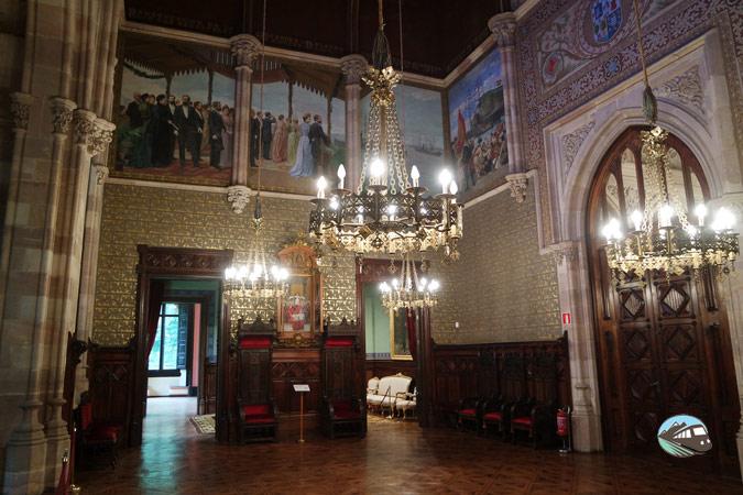 Interior del Palacio de Sobrellano