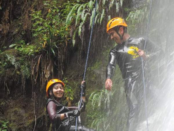 Canyoning en el Ranco