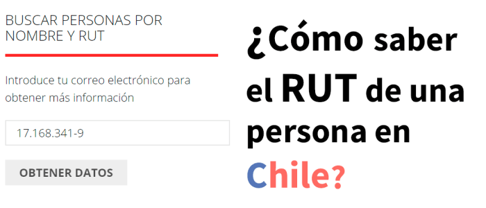 Buscador de RUT con sólo el nombre en Chile (Nuevo 2020).