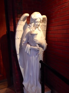 Angel statue at Assumption Church; At least it isn't weeping