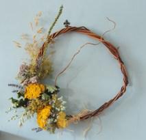Rustic dried flower wreath