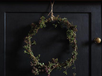 Simple marjoram wreath