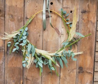 Pampas and Eucalyptus Wreath