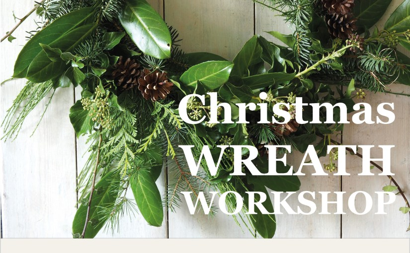 Christmas wreath workshop poster
