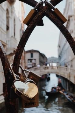 Heart padlock in Venice