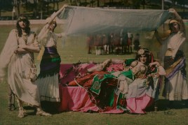 """""""Cleopatra"""" in Domain Cricket Ground, 1914, Auckland, by Robert Walrond. Purchased 1999 with New Zealand Lottery Grants Board funds. Te Papa (A.018196)"""