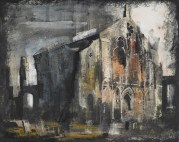 Binham Abbey, Norfolk, 1948, United Kingdom, by John Piper. Purchased 1957 with Mary Buick Bequest funds. CC BY-NC-ND licence. Te Papa (1957-0013-5)