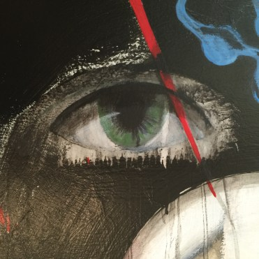 Behind The Mask detail by Ruth Chase