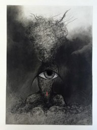 Acrylic on Paper, Surreal Painting, Art, Eye Art, Figurative Art, Emerging Artist, California Artist, Charcoal Drawing, Contemporary CharcoaDrawing, Unique Drawing