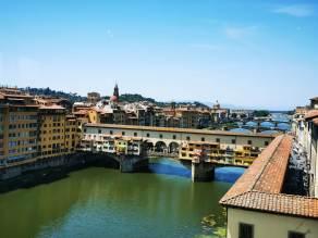 Florenz - Ponte Vecchio mit Vasarikorridor