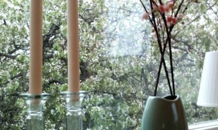 Vindu i kirsebær og pastell
