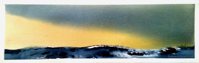 Winter Landscape in Yellow