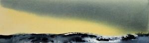 Vintergult landskap – R.T.Brokstad