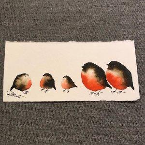 Family of Five - Watercolour - RT Brokstad