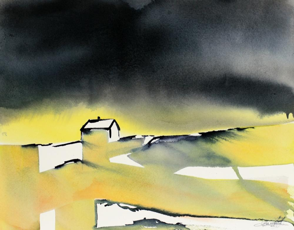 Northern Bliss - watercolour by RT Brokstad