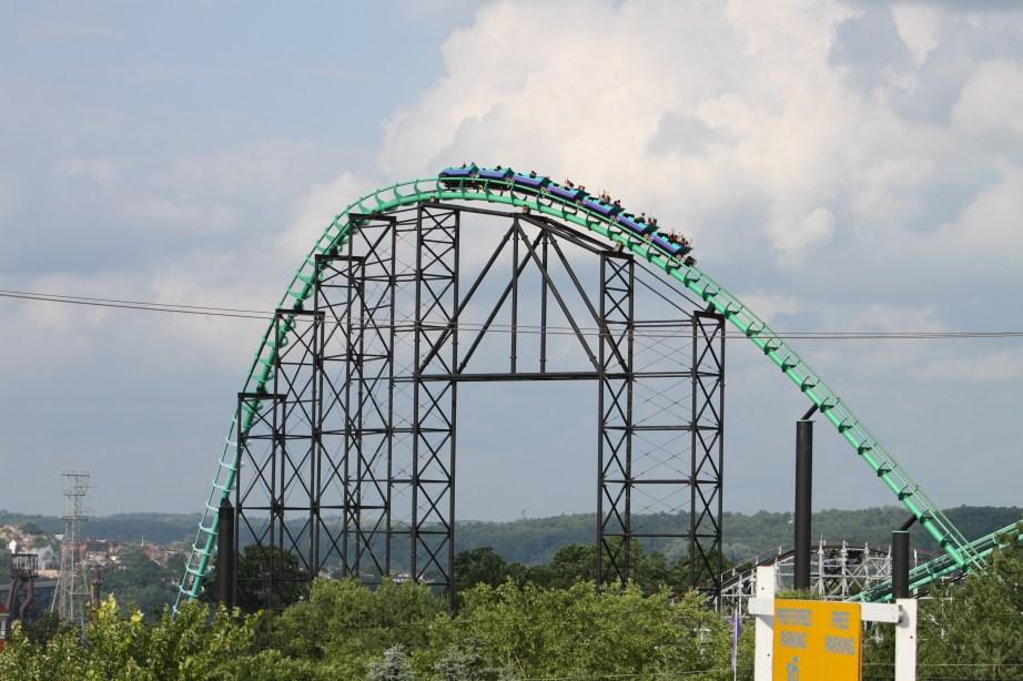 Phantom's Revenge Roller Coaster at Kennywood Park West Mifflin PA