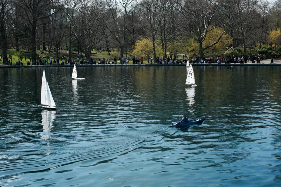 New York City Central Park Sailboats