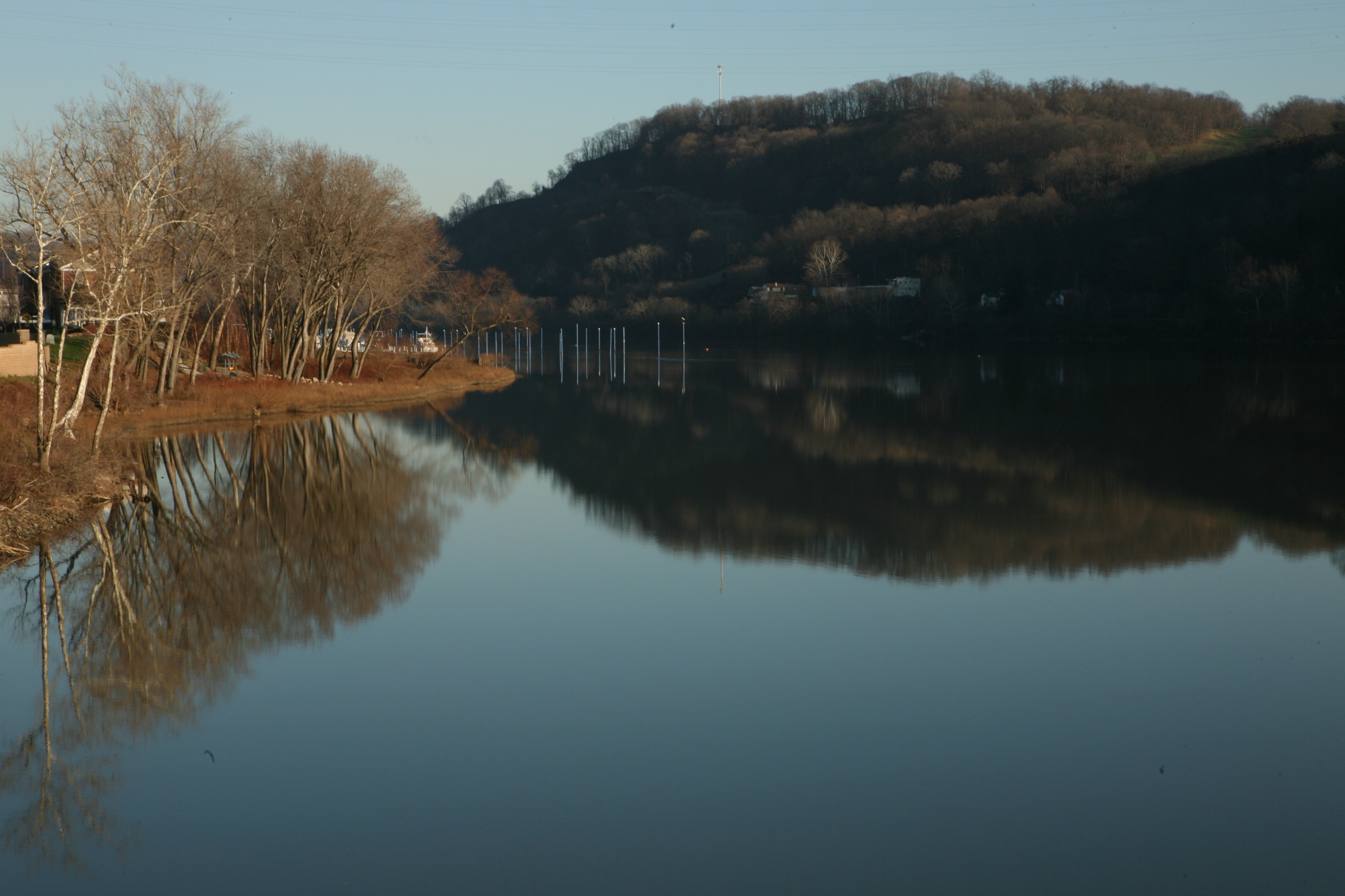 Allegheny River Still as a Lake Sunday Afternoon – Ruth E