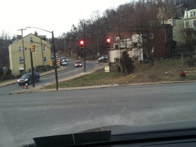 at the intersection