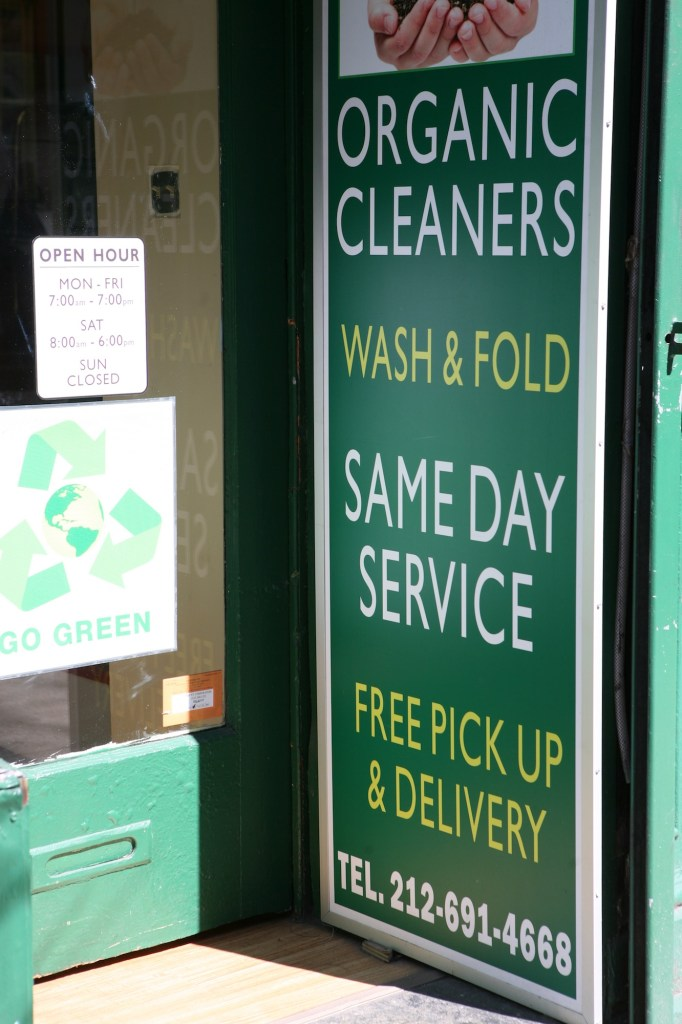 Green Cleaners Sign