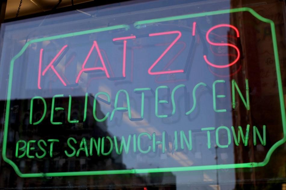 Neon sign at Katz's Deli